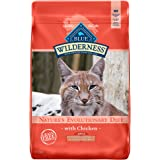Blue Buffalo Wilderness High Protein Grain Free, Natural Adult Indoor Hairball & Weight Control Dry Cat Food, Chicken