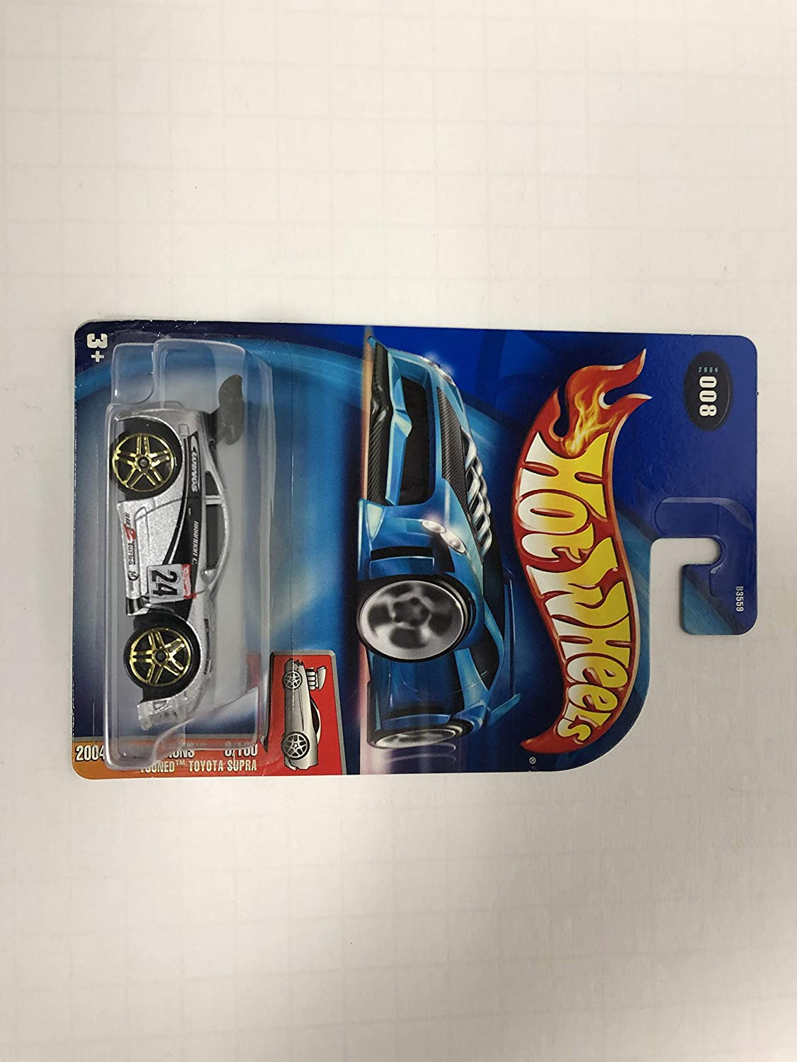 'Tooned Toyota Supra 2004 First Editions 8/100 Hot Wheels Diecast Car No. 008