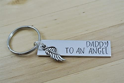 Infertility Keychain Daddy To An Angel Keychain Miscarriage Keepsake Miscarriage Gift Miscarriage Memorial