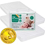 Crib Mattress Protector Pad 2 Pack - Ultra Soft (Mom's Choice Award Winner) by Margaux & May - Waterproof - Noiseless - Dryer