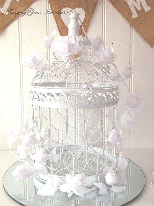Wedding Decor Jaula de Metal para pájaros de Estilo Vintage ...