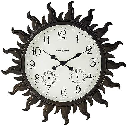 Amazon Com Howard Miller Sunburst Clock Home Kitchen