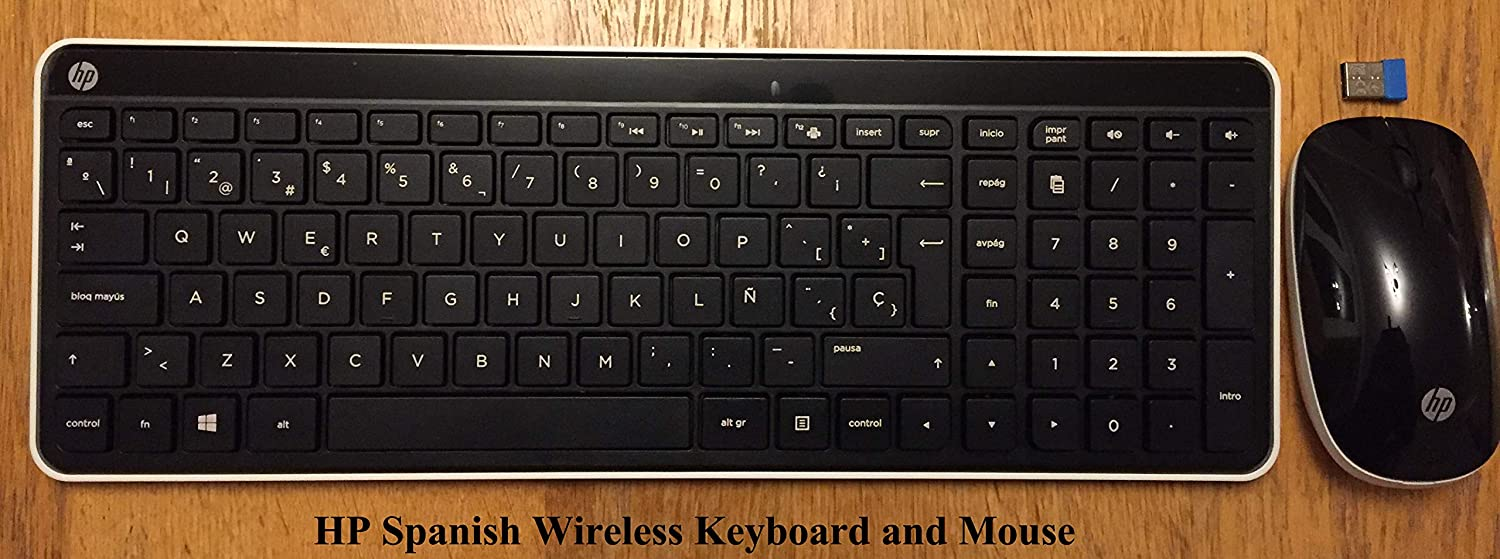 HP Spanish Wireless Keyboard & Mouse Hewlett Packard - LanguageSource.com