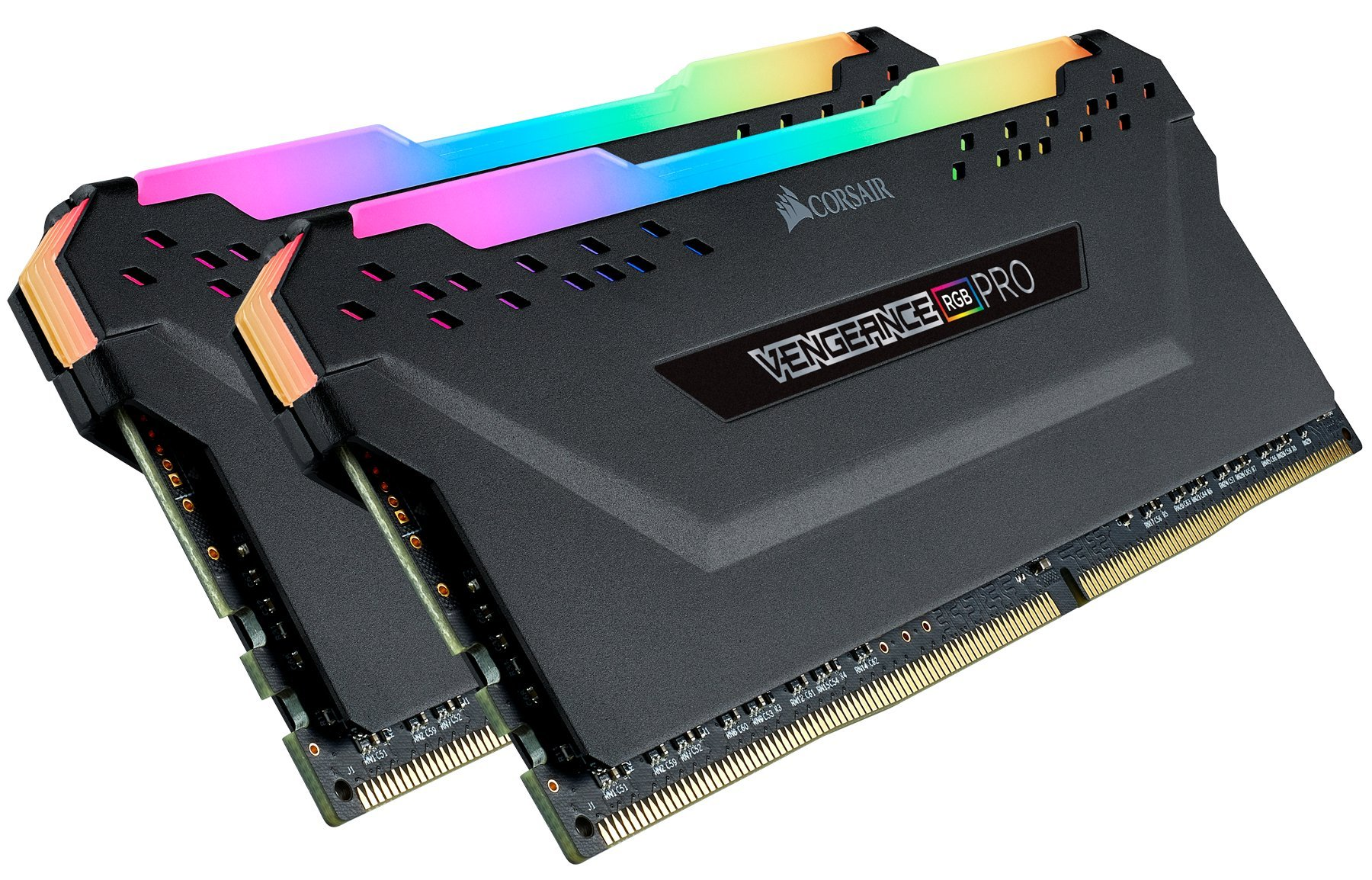 Corsair Vengeance RGB Pro 16GB (2x8GB) DDR4 3600 (PC4-28800) C18 AMD Optimized Memory - Black