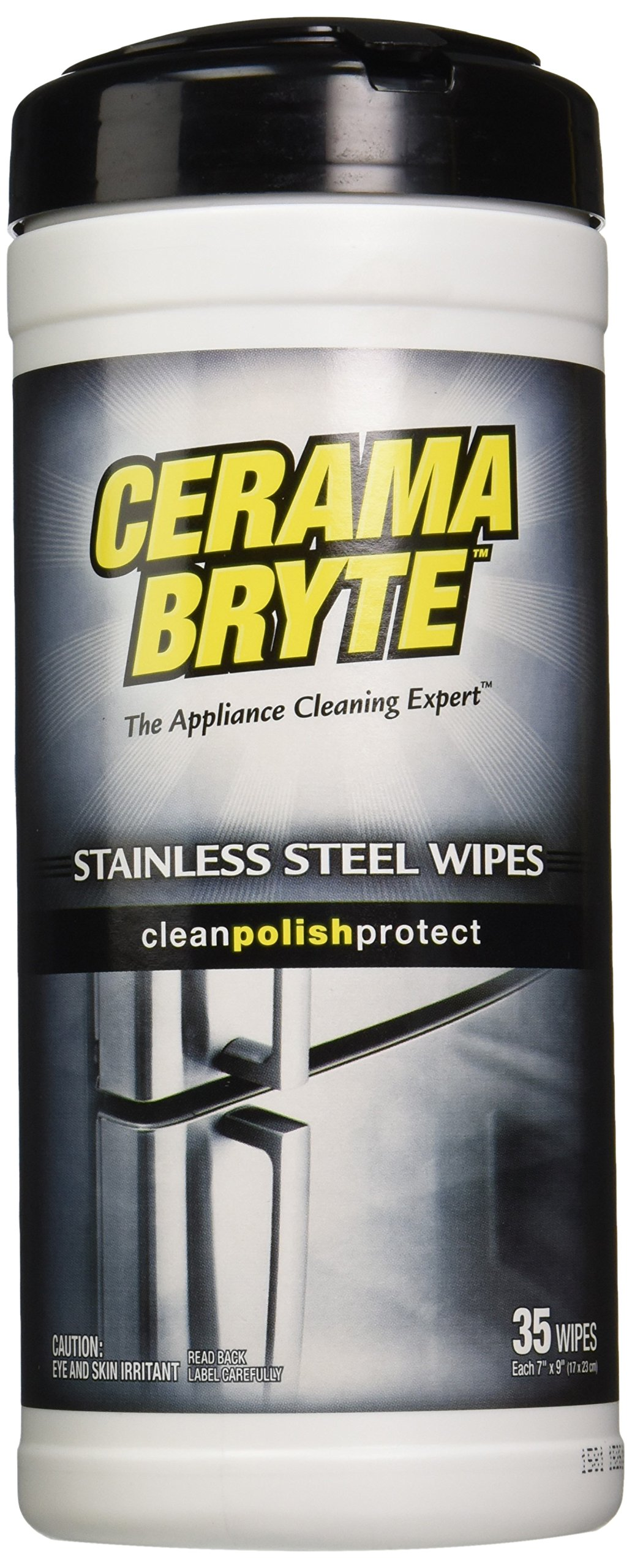 (2 Pack) Cerama Bryte Stainless Steel Cleaner Polish Cleaning Wipes, 2 x 35-ct by Cerama Bryte