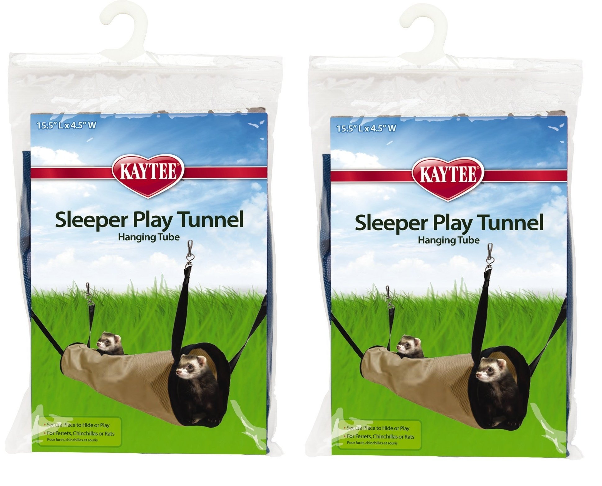 (2 Pack) Kaytee Simple Sleeper Play Tunnel, Colors Vary