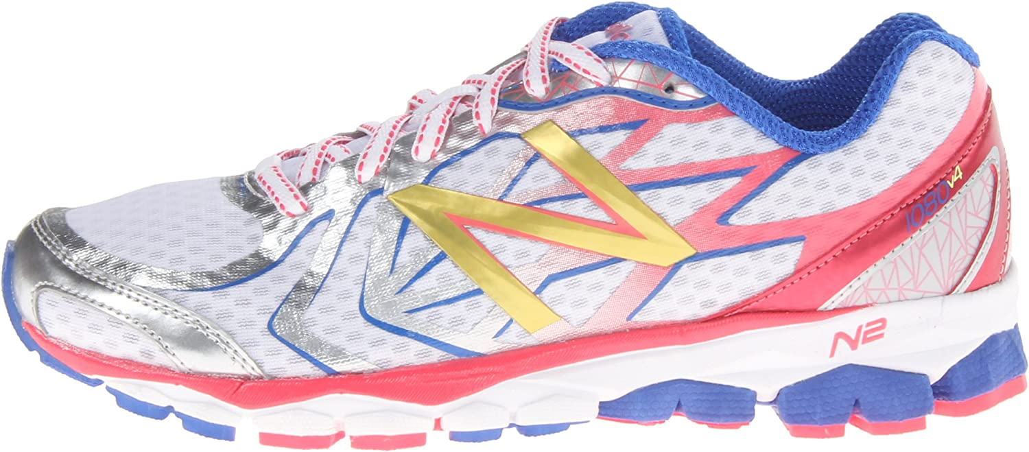New Balance W1080Wp4, Zapatillas de Running para Mujer, Pink/White, 4.5 UK: Amazon.es: Zapatos y complementos