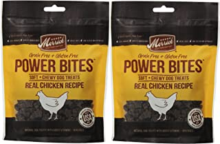 product image for MERRICK Chicken Power Bites Made in USA 2 Pack 12 Ounces Total Dog Treats Training