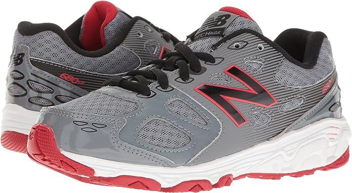 Zapatillas de running KR680 para ni?os, gris / negro / rojo, 5 ...