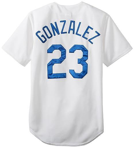771585efe7e MLB Mens Los Angeles Dodgers Adrian Gonzalez Home Replica Baseball Jersey  (White