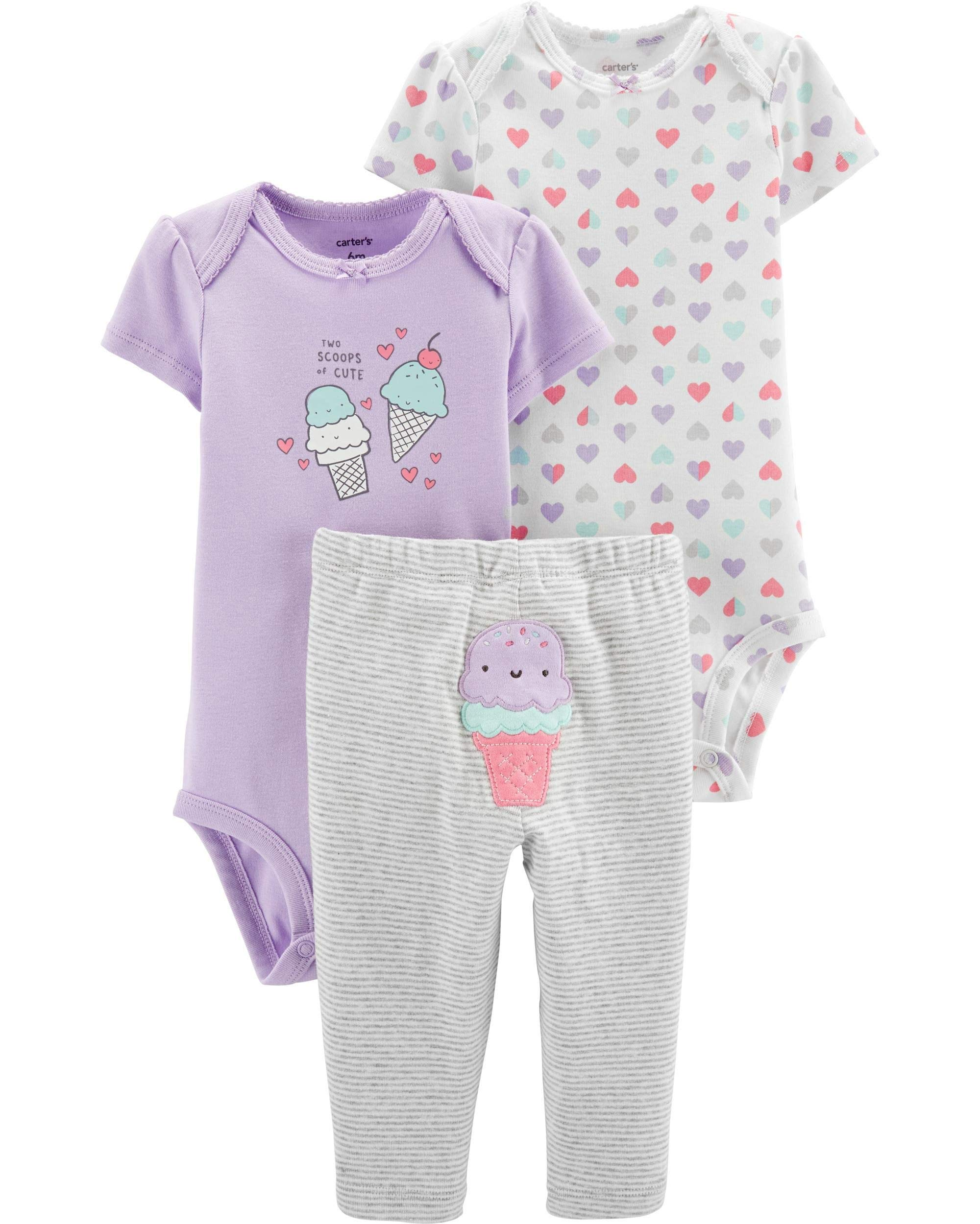 ad8c88865 Carter's Baby Girls Take Me Away 3-Piece Little Character Set product image