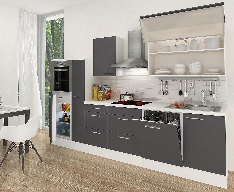 respekta Cocina vacíos de Bloque RP300HWG 310 cm Blanco Gris Brillante: Amazon.es: Juguetes y juegos