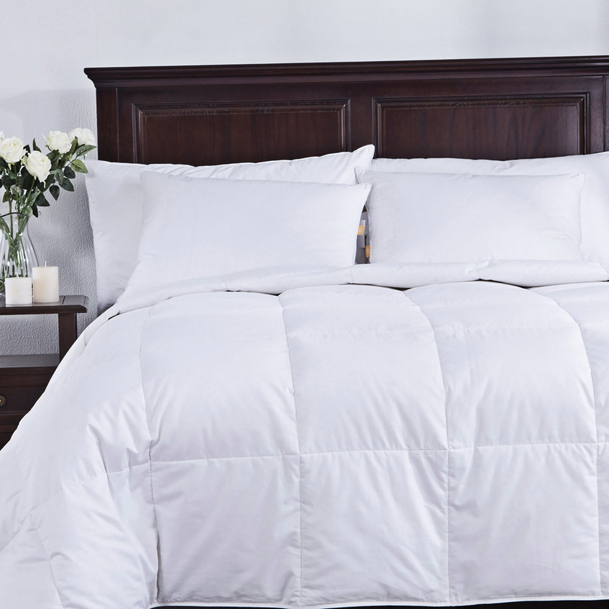 puredown Lightweight White Goose Down Comforter Duvet Insert 300 Thread Count 100% Cotton Fabric 600 Fill Power Down Down Conforter, Full/Queen, by puredown (Image #7)