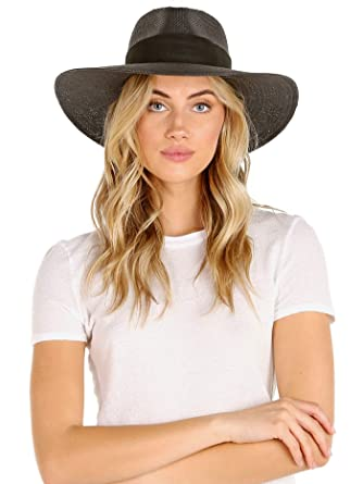 9982af838348d Amazon.com  Janessa Leone Women s Rose Fedora