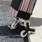 Folding Trolley Dolly Shopping Cart, Stair Climbing Cart Grocery Laundry Utility Cart with Wheel Bearings, 150 lbs Load Capacity