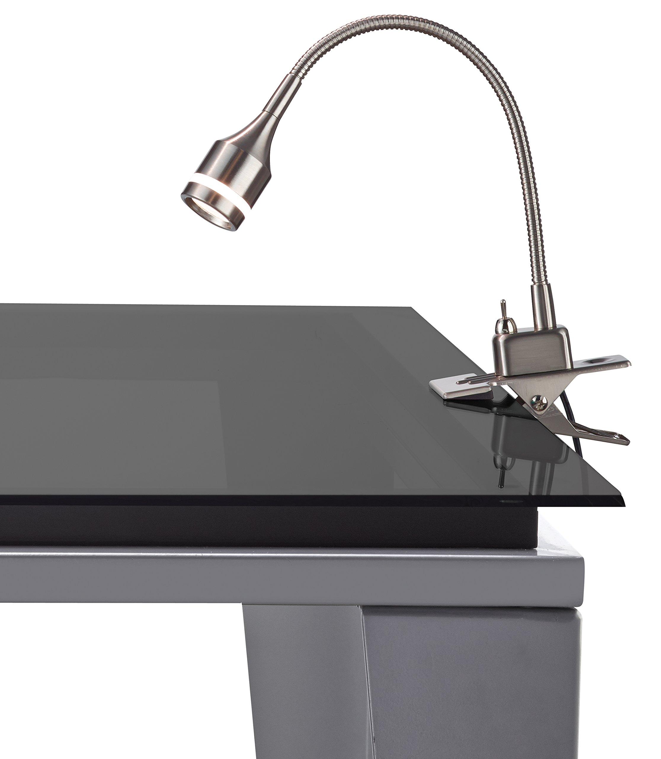 Adesso 3217-22 Prospect LED Clip Lamp, Steel, Smart Outlet Compatible, 9.5'' -14.5''