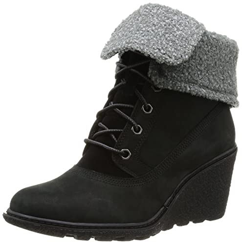 80fb30288d5a Timberland Women s Amston Roll Top Ankle Boots Black