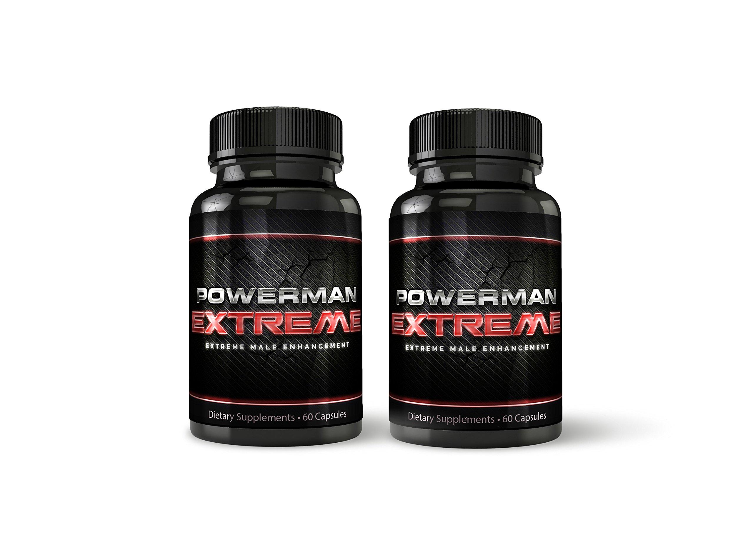 Powerman Extreme Male Enhancement - 2-Month Supply - Maximum Strength Size Pills - Increase Size, Stamina, Performance - Ultra-Quality Tongkat, L-Arginine, Tribulus Terrestris - Boost Testosterone