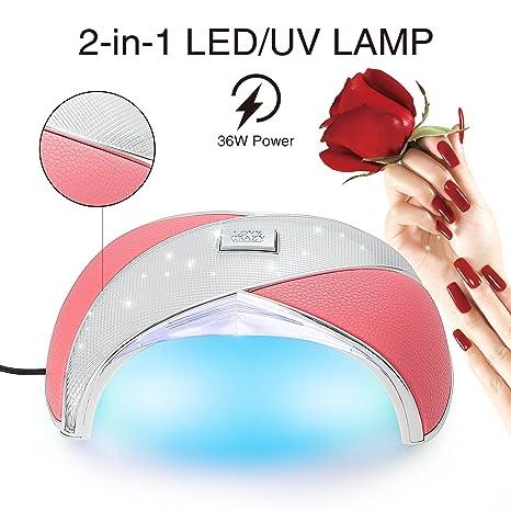 Lámpara de uñas 36W LED UV, MINILOP secador de uñas de cuero Gel de uñas