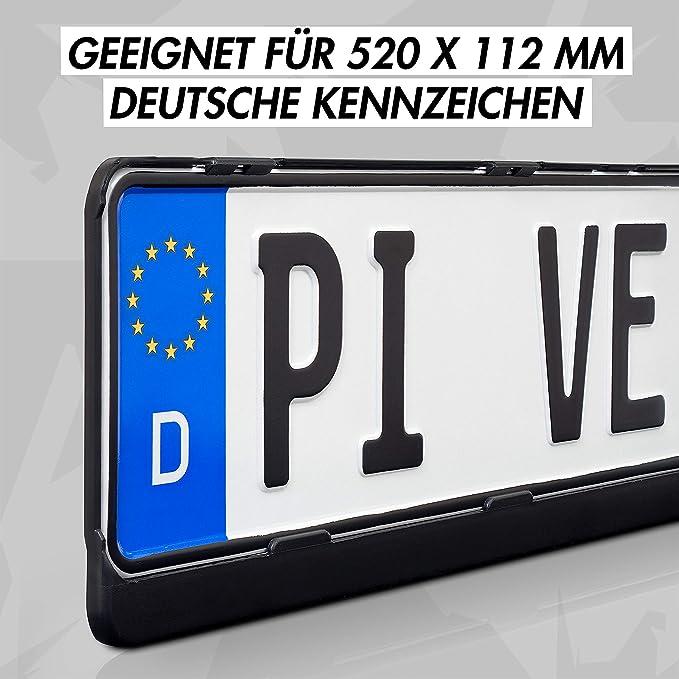 Genuine GERMAN OEM montaje europeo del soporte del marco de la matrícula vw audi