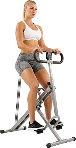 Sunny Health Fitness Squat Assist Row-N-Ride Trainer for Squat Exercise and Glutes Workout