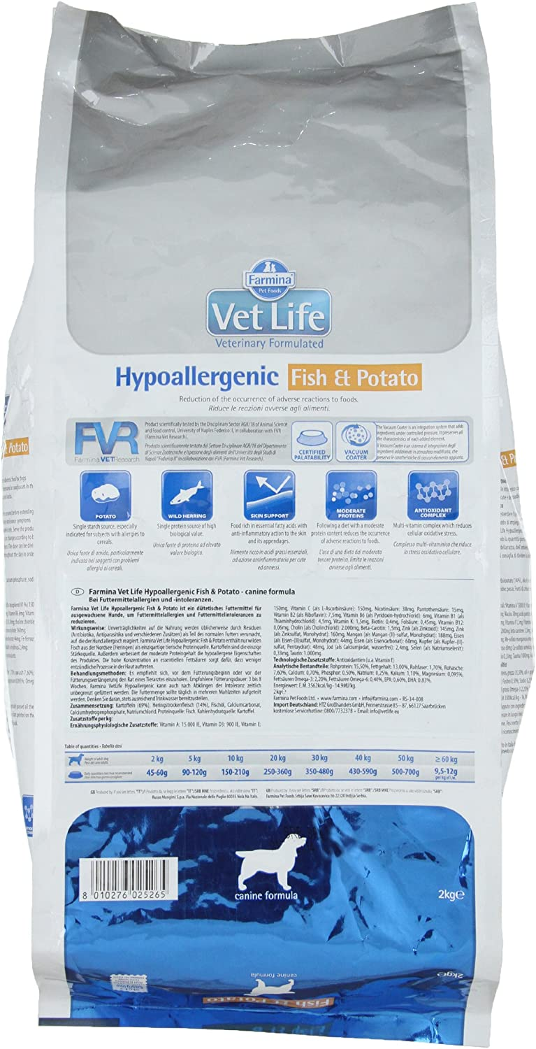 Vet Life HIPO Fish y Potato Dog, 1er Pack (1 x 2 kg): Amazon.es ...