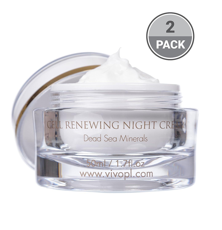 Vivo Per Lei Dead Sea Night Cream 9.6 Fl.Oz, Moisturizing Night Cream with Minerals, Shea Butter, Dead Sea Cream to Refresh Skin, Night Recovery Cream for Anti Aging, Night Moisturizer