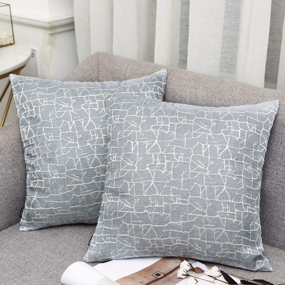 Stripe Cotton Linen Throw Pillow Case Cushion Cover Sofa Decor Light Gray Sfhs Org