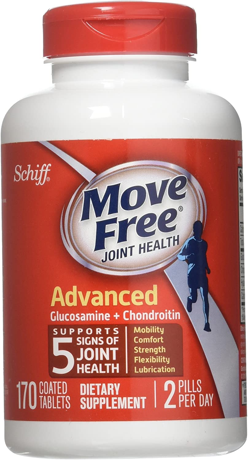 Schiff Move Free Joint Health Dietary Supplement, Advanced Glucosamine Chondroitin 170 Tablets
