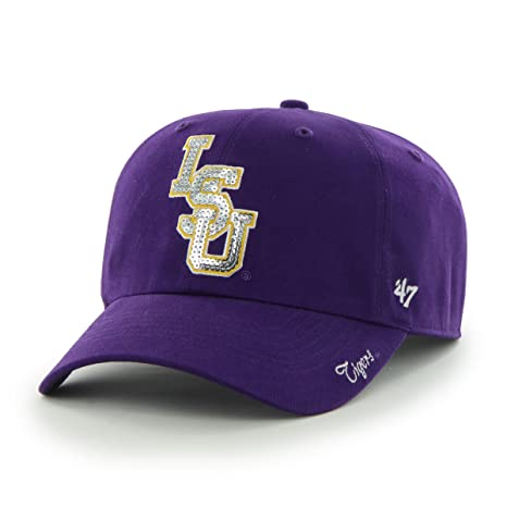Amazon.com    47 NCAA LSU Tigers Women s Sparkle Team Color Clean Up ... 9b2eb16647