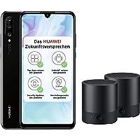 Huawei P30 lite Dual-SIM Smartphone (6,15 Zoll, 128 GB ROM, 4 GB RAM, Android 9.0) schwarz mit SD Karte [Exklusiv bei Amazon] - DE Version + 2 x Bluetooth MiniSpeaker CM510, schwarz