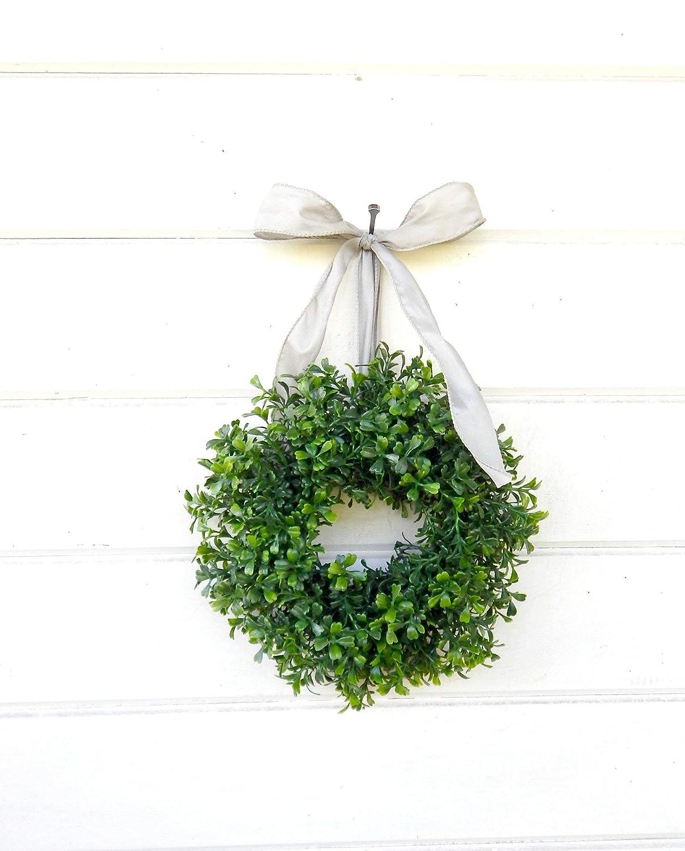 Small Christmas Wreaths.Mini Window Wreath Mini Boxwood Wreath Christmas Wreath Holiday Wreath Country Cottage Wreath Farmhouse Decor Scented Wreath Small Wreath