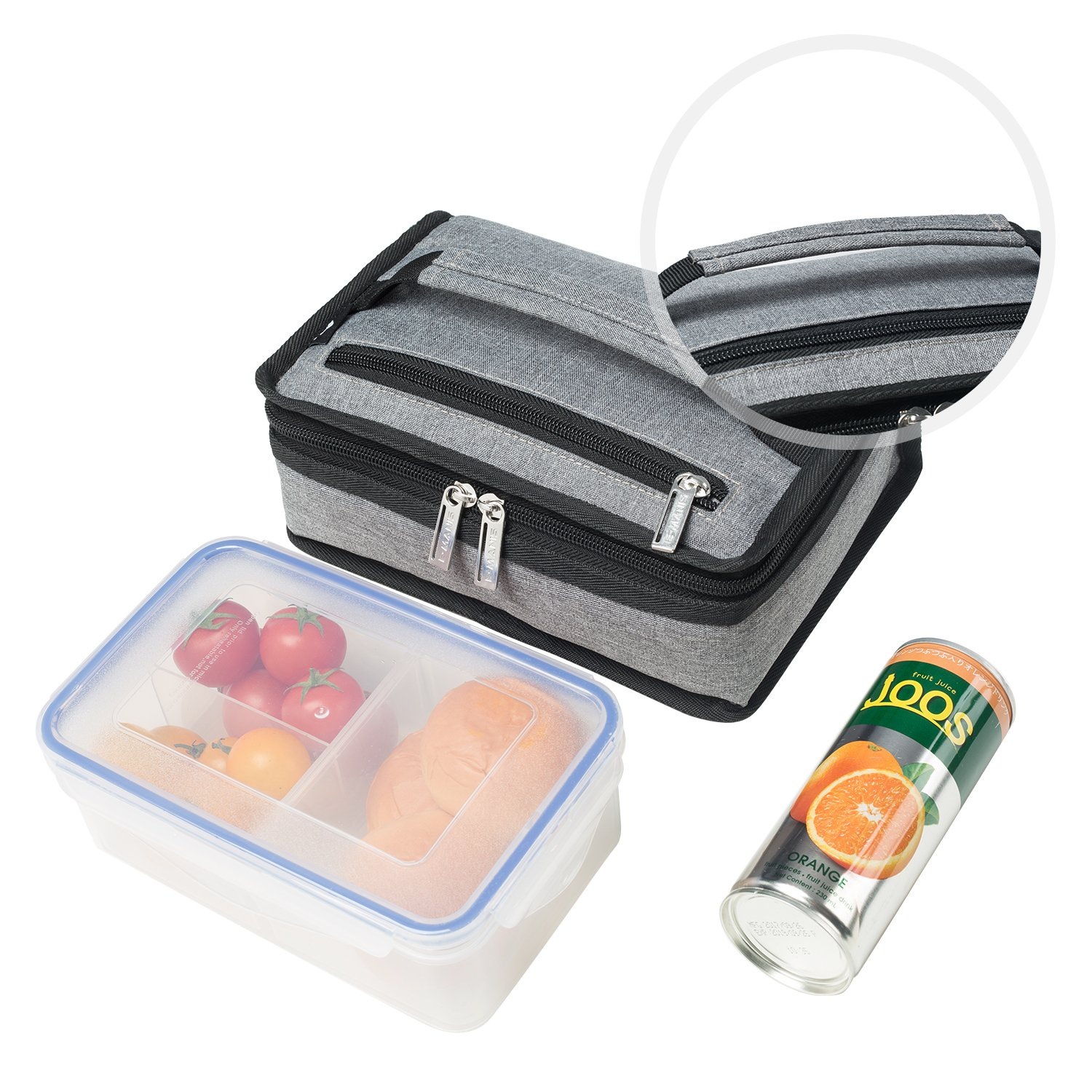 c6cf2175504d E-MANIS Lunch Food Bag Mini Small Insulated Lunch Box Portable ...
