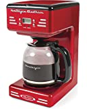 Nostalgia RCOF12RR New & Improved 12-Cup Programmable Coffee Maker with LED Display, Automatic Shut-Off & Keep Warm…