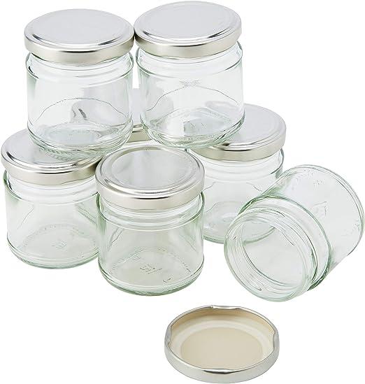 Nutleys 100ml Small Glass Jam Chutney Marmalade Jar (Pack of 90): Amazon.es: Jardín
