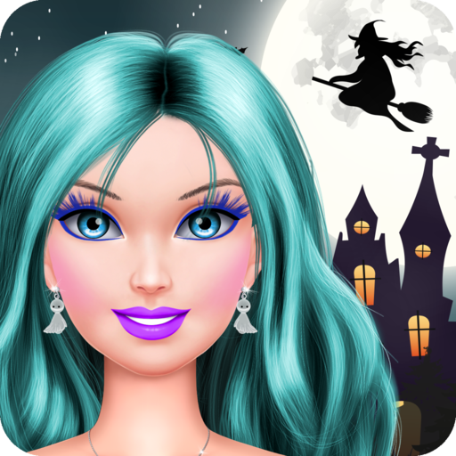 Halloween Makeover: Spa, Makeup and Dressup Salon - Full (Spooky Halloween Faces)