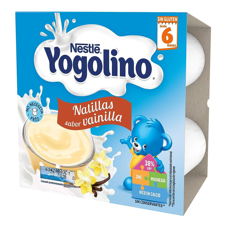 Nestlé Yogolino Natillas de galletas - Paquete de natillas de 6x4 unidades de 100g: Amazon.es: Alimentación y bebidas