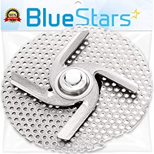 Ultra Durable W10083957V Dishwasher Chopper Blade Replacement Part by Blue Stars - Exact Fit for KitchenAid Whirlpool Kenmore Dishwashers - Replaces 8268383 WP8268383 AP5983779 W10083957