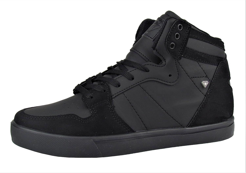 Cash Money Herren Schuhe - Freizeitschuhe - High Sneaker - mit Stern An der Verse - Verschiedene Farben  44 EU|Schwarz