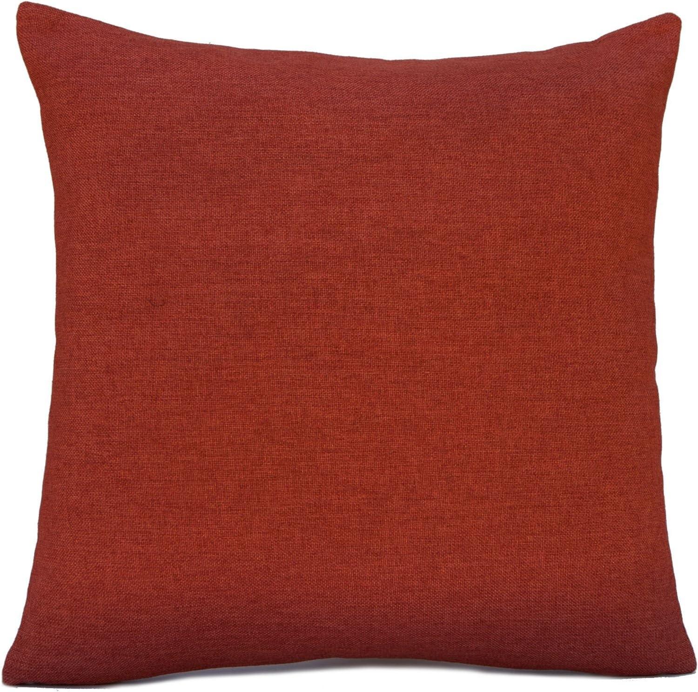 Linen Blend Decorative Throw Pillow