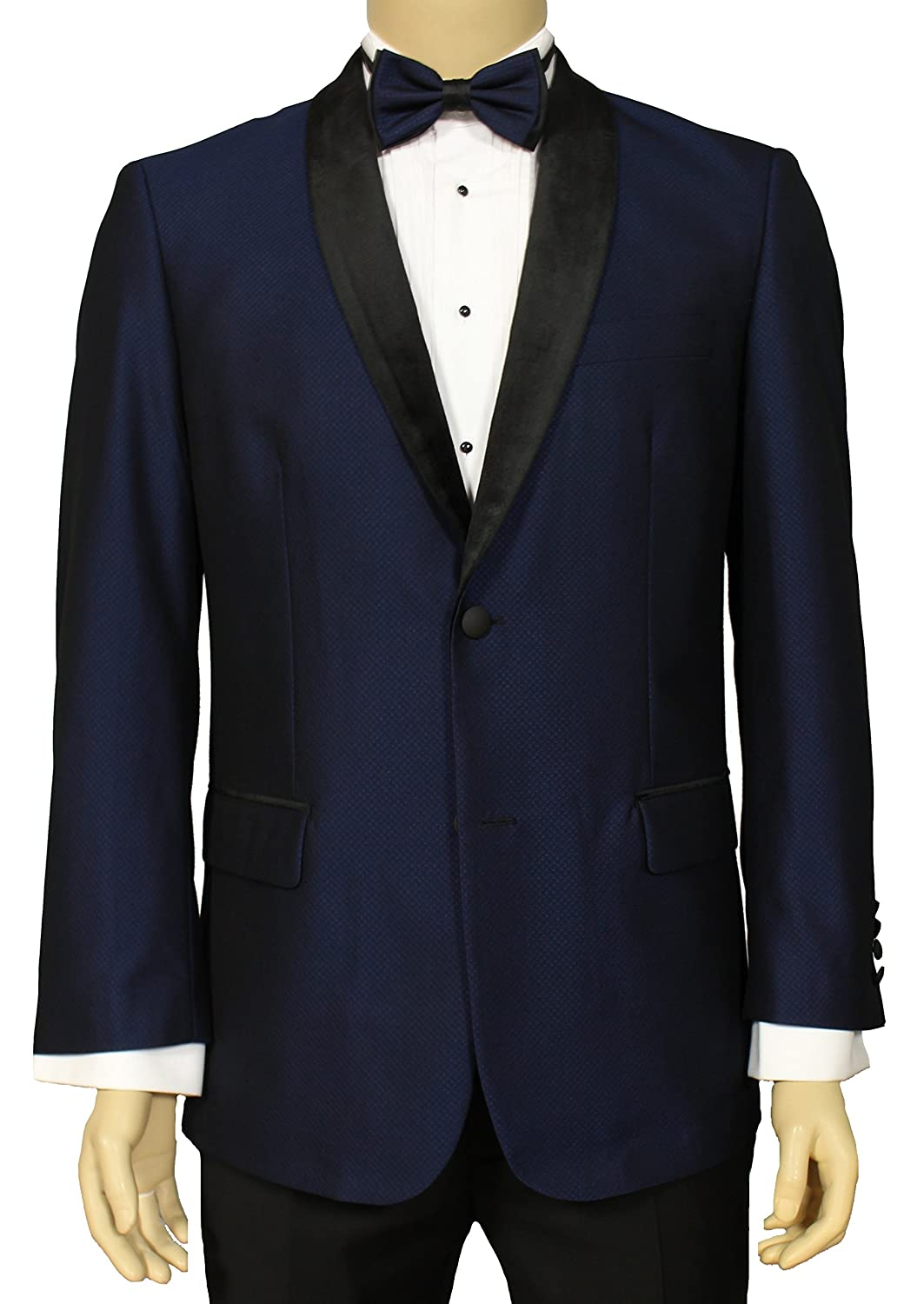 96c815f2a0b Adam Baker Men's Classic Fit Velvet Shawl Collar Two Button Blazer Formal  Tuxedo Dinner Jacket - Colors