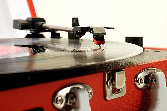 Grausch RPS101 tocadisco vinilo maleta portátil con 2 altavoces integrados