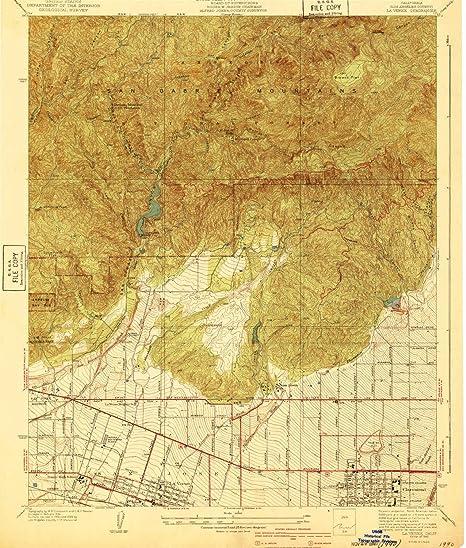 Amazon Com Yellowmaps La Verne Ca Topo Map 1 24000 Scale 7 5 X