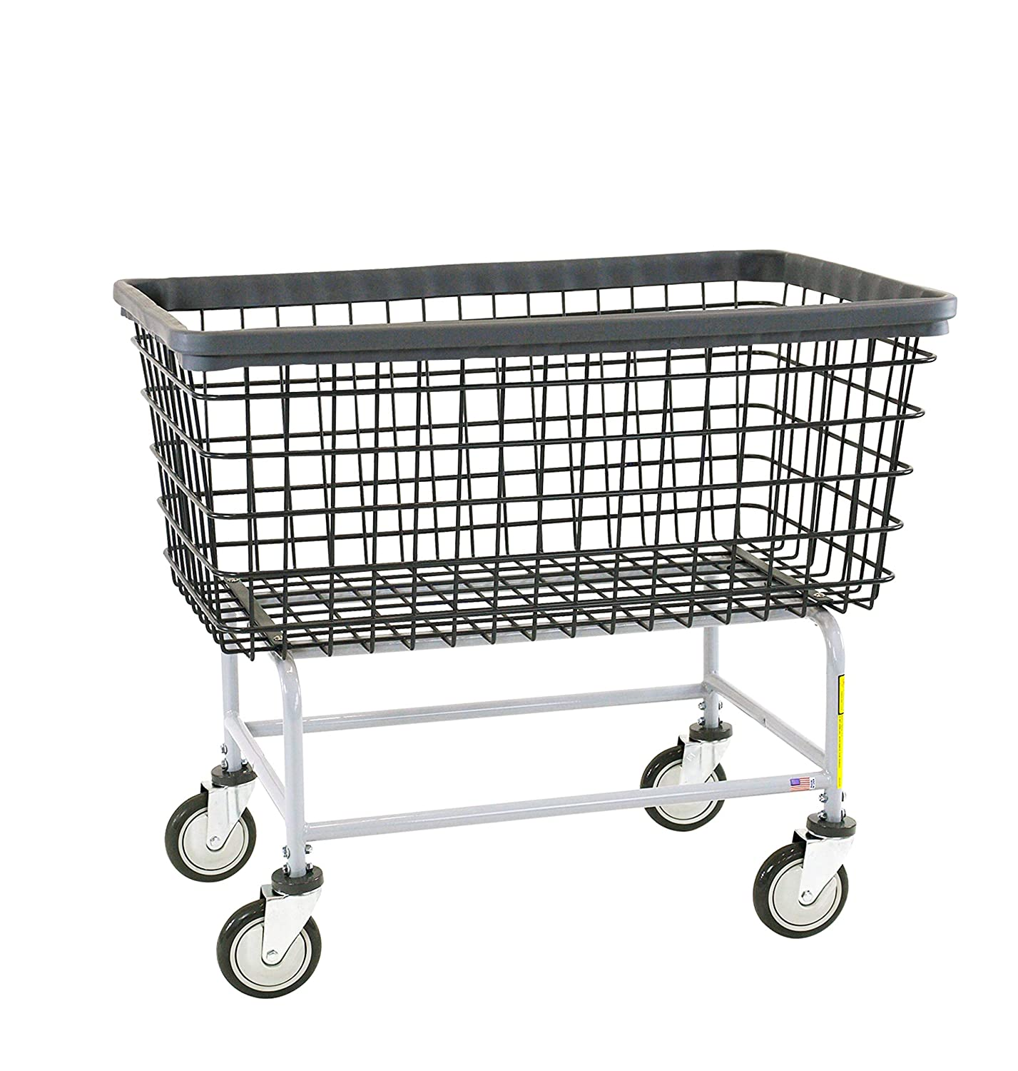 "R&B Wire 201H/D7""Big Dog"" Wire Laundry Cart, 6 Bushel, Dura-Seven, Seven Year No Rust Guarantee"