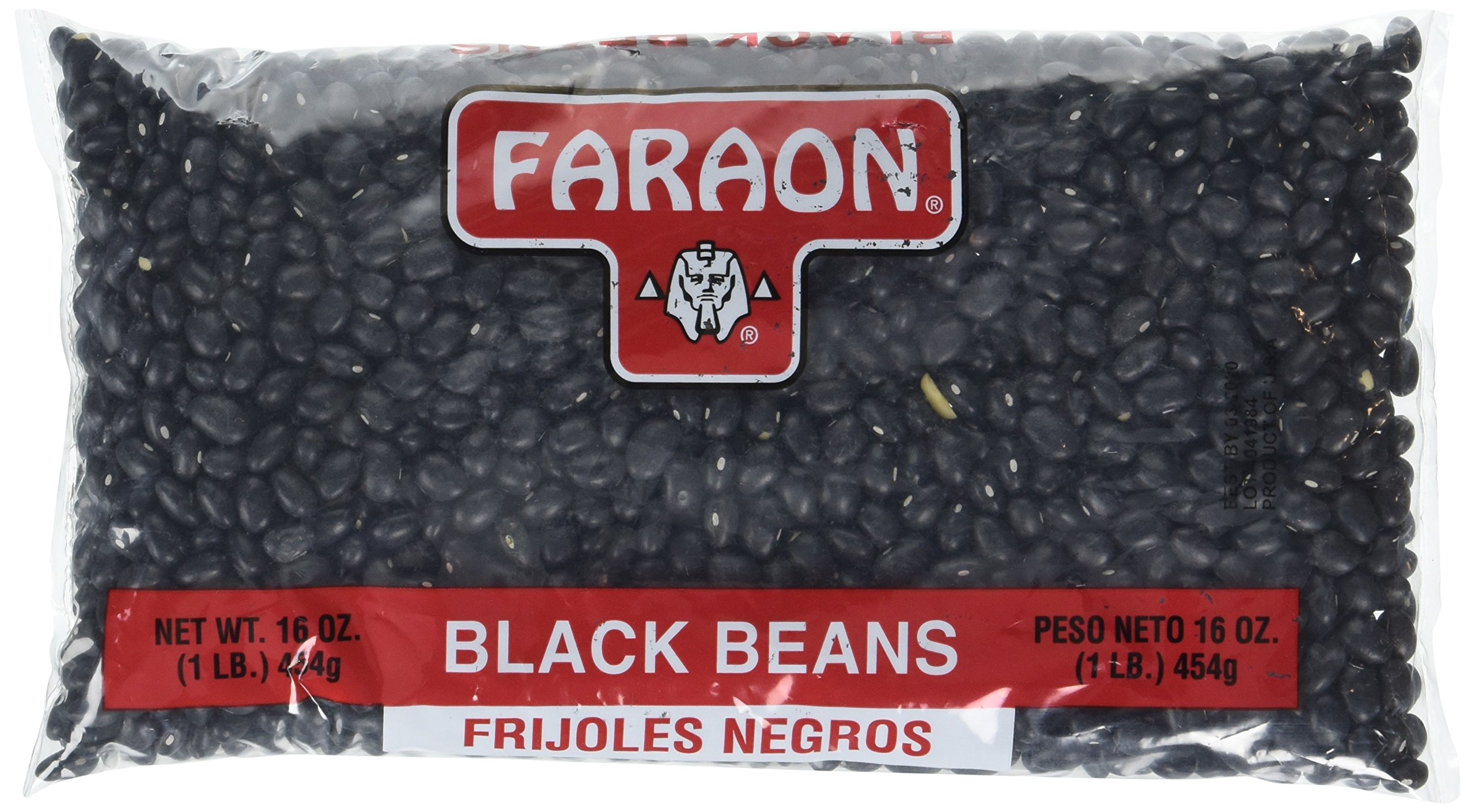 FARAON Black Beans, 1 Pound (Pack of 12) by Faraon (Image #1)