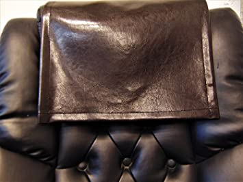 Recliner Head Cover Dark brown Faux leather Ford vinyl Sofa Loveseat Chaise Theater Seat Furniture Protector Chair Caps Headrest Pad