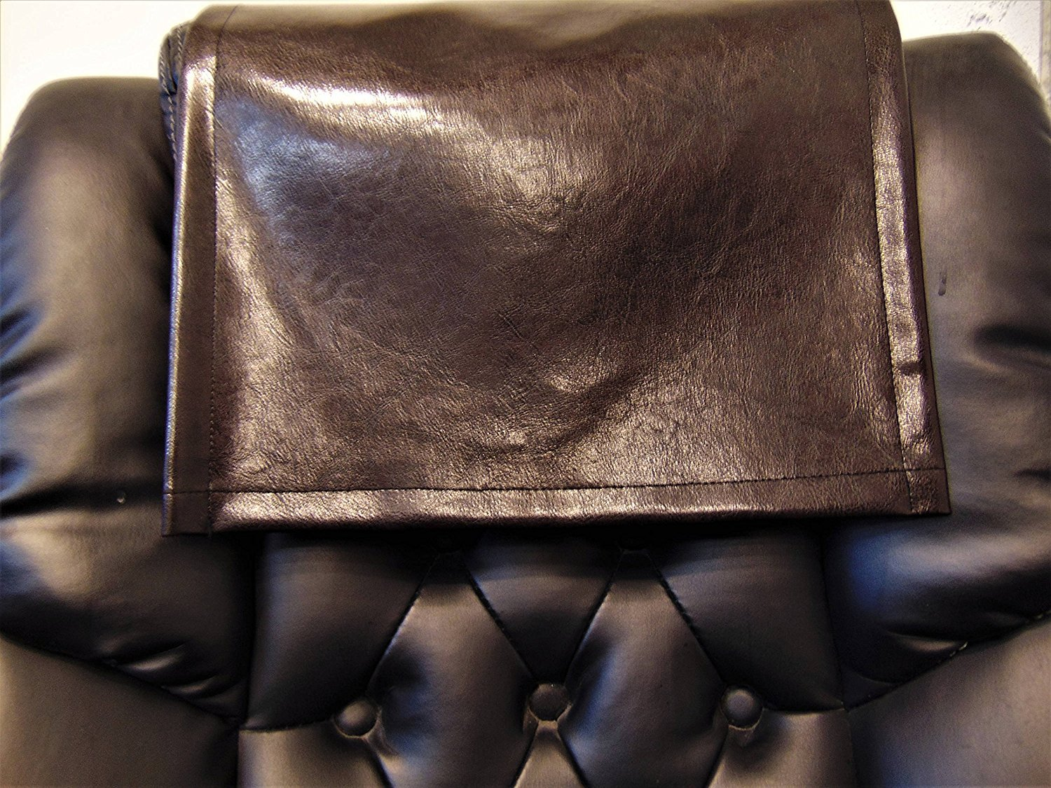 Vinyl, Brown Houston, 16x16, Sofa, Loveseat, Chaise, Theater Seat, RV Cover, Chair Caps, Headrest Pad, Recliner Head Cover, Protector