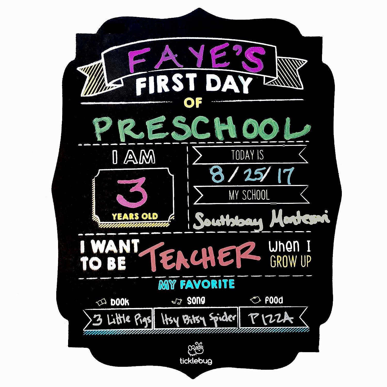 fayfaire最初の日学校黒板 – Back To School Sign for 1st Dayの学校Stats写真プロップ(マーカー別売り) ブラック TB-CB-BTS-2018-1  ブラック B07FP5NJJ8
