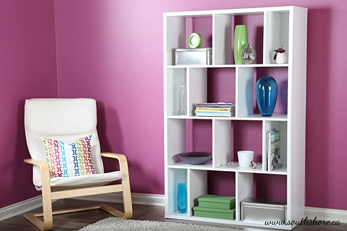 Amazon.com: South Shore Reveal Shelving Unit with 12 Compartments ...