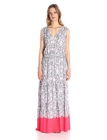 1ef85b8c6e Amazon Brand - Lark & Ro Women's Sleeveless Multi-Tiered Maxi Dress, Vivid  Pop